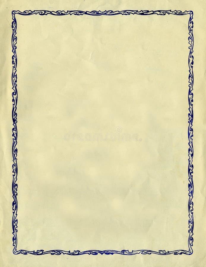 Frame decorativo do vintage de encontro a um Tex de papel áspero ilustração do vetor