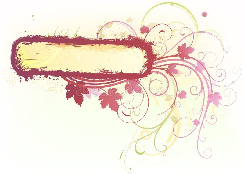 Frame decorativo floral ilustração stock