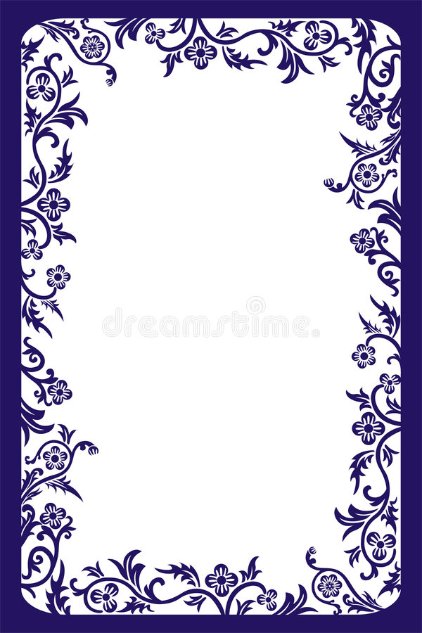 Frame decorativo, vetor ilustração stock
