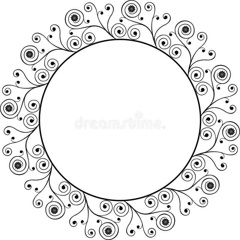 Download Frame decorativo, vetor ilustração do vetor. Ilustração de abstraction - 525875
