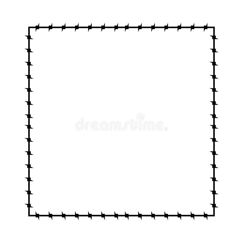 Frame descoberto do fio Beira da prisão do quadro de Barb Ilustração do vetor ilustração stock