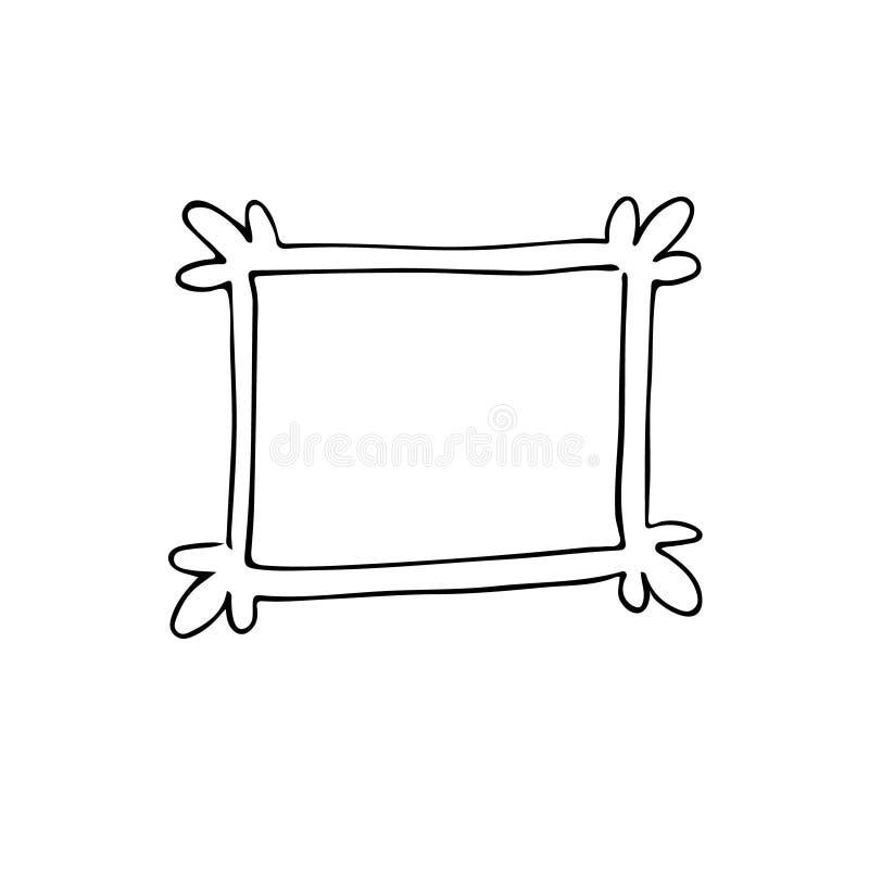 Frame desenhado mão Estilo dos desenhos animados fotos de stock