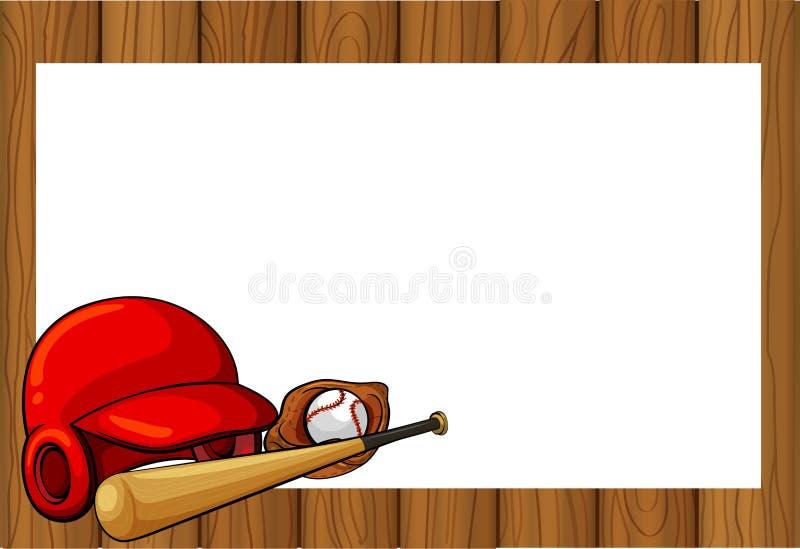 frame design with baseball equipments stock vector