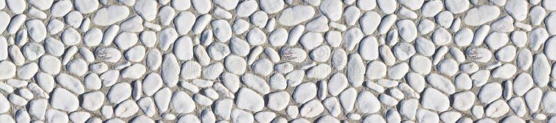Frame design with white stone pebbles - seamless texture stock image