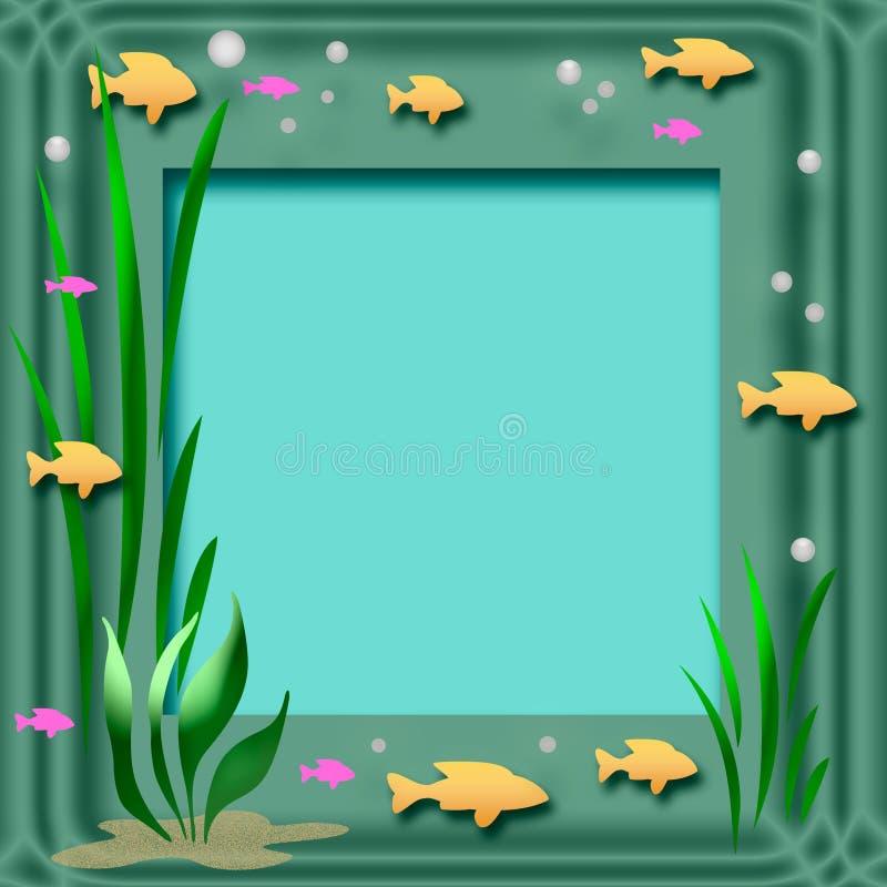 Frame do aquário ilustração do vetor