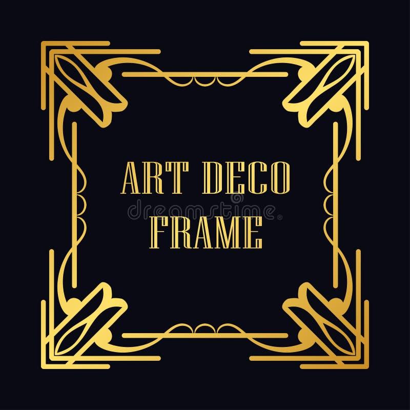 Frame do art deco ilustração stock