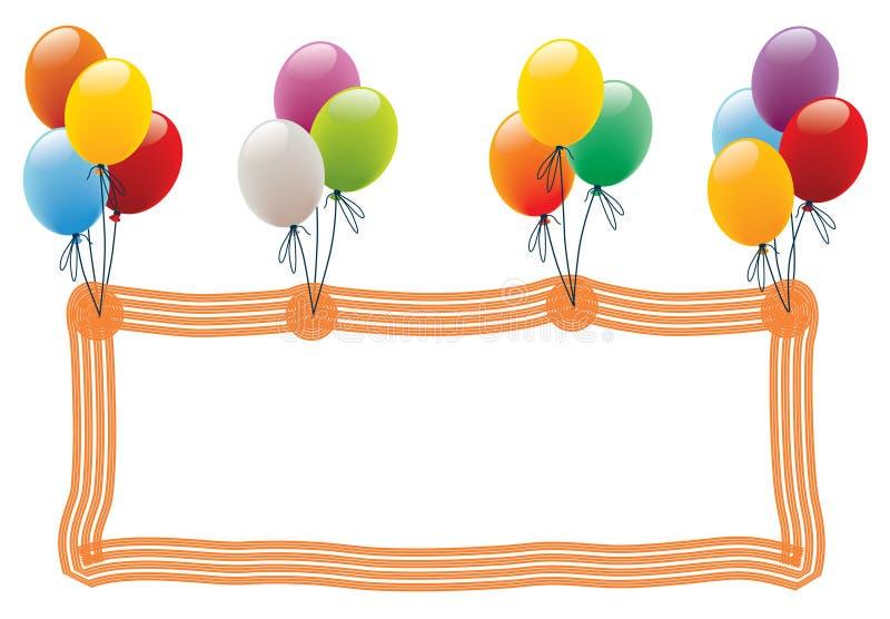 Frame do balão ilustração royalty free