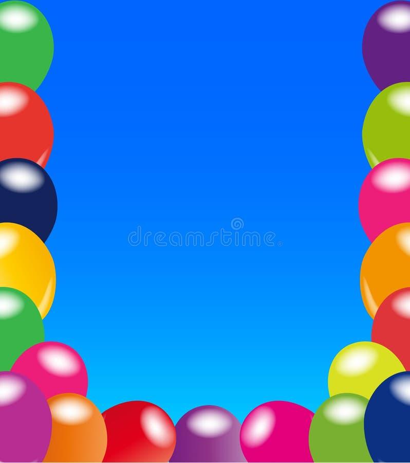 Frame do balão ilustração do vetor