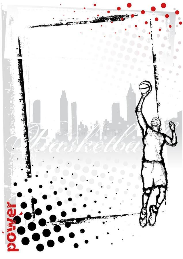Frame do basquetebol ilustração royalty free