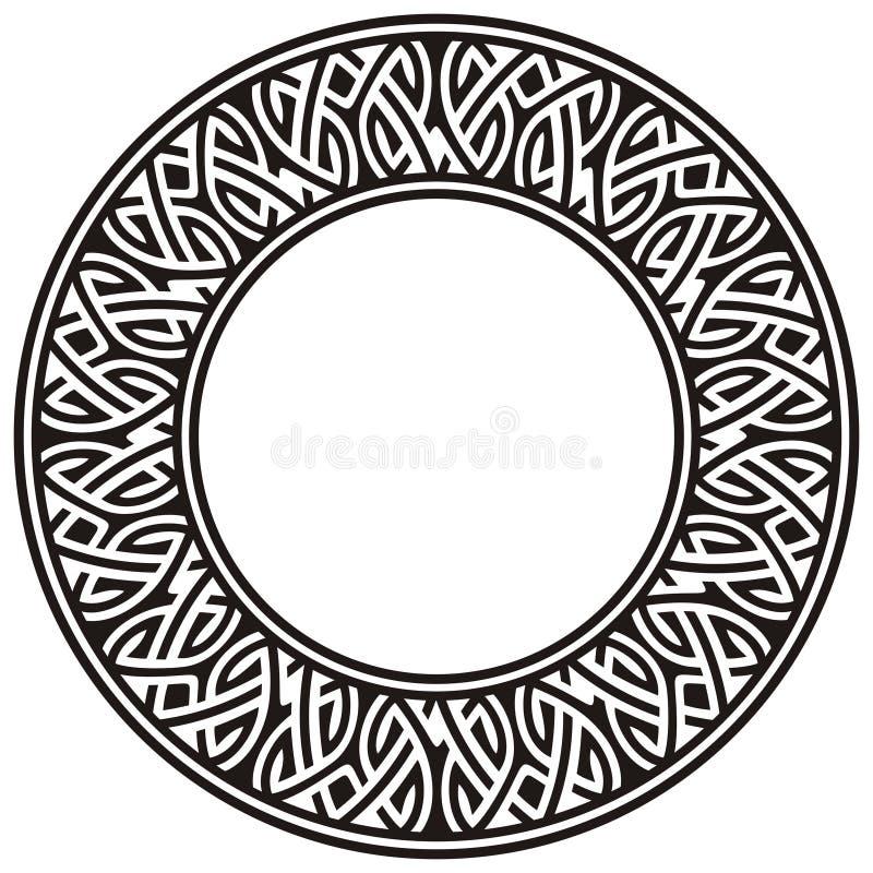 Frame do círculo ilustração stock