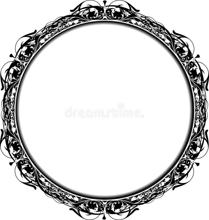 Frame do círculo de Grunge do Victorian ilustração do vetor