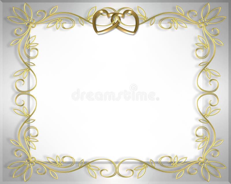 Frame do casamento ou do Valentim   ilustração stock