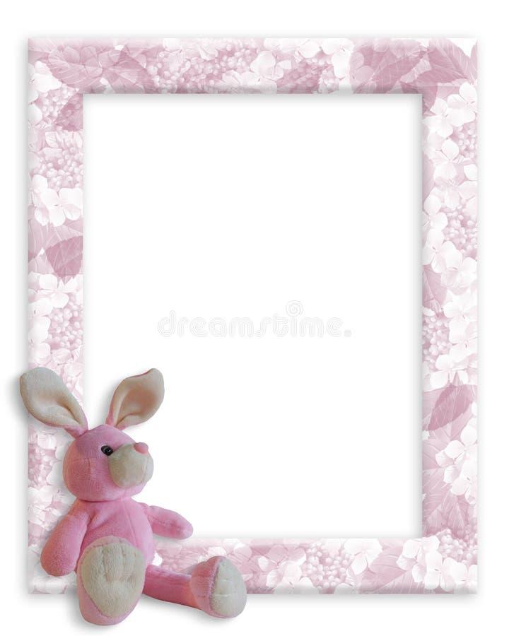 Frame do coelho do bebé ilustração royalty free