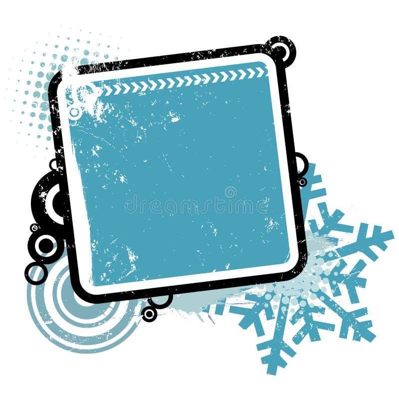 Frame do conceito do inverno ilustração royalty free