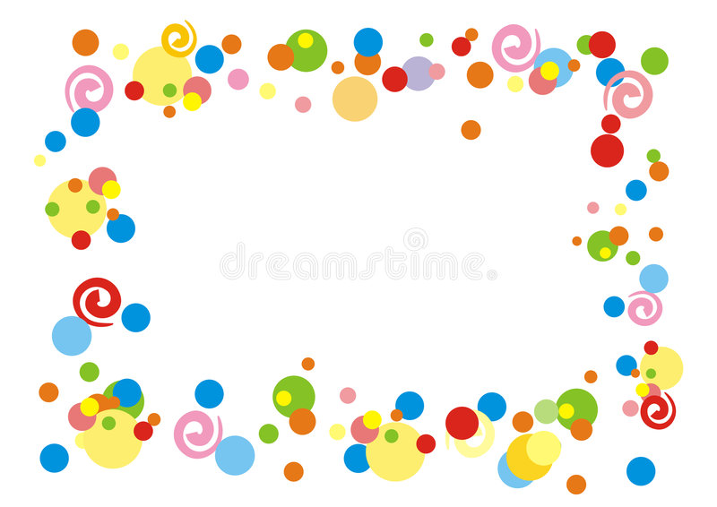 Frame do Confetti ilustração royalty free