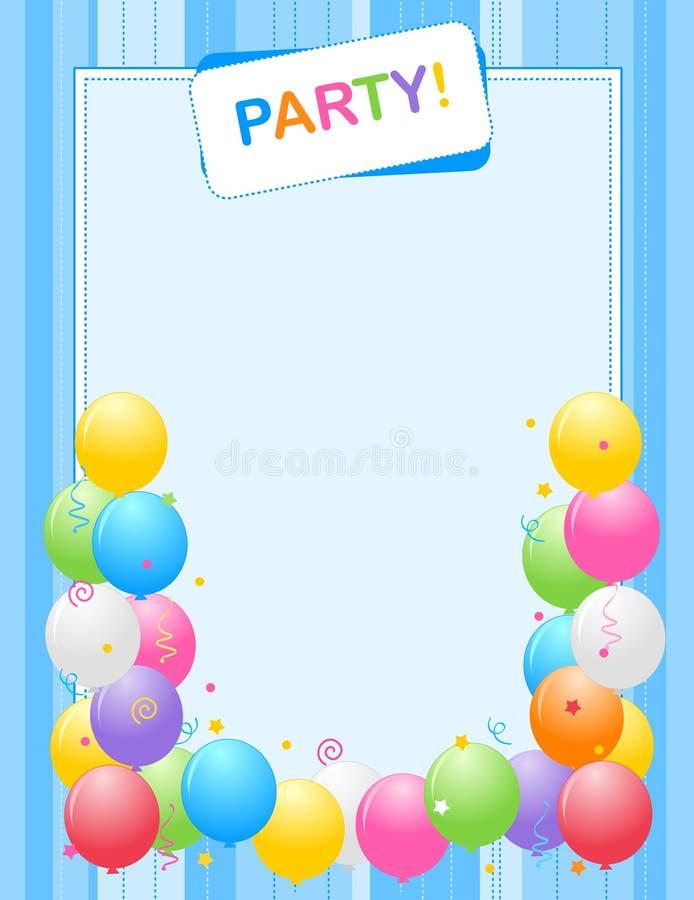 Frame do convite do partido ilustração stock