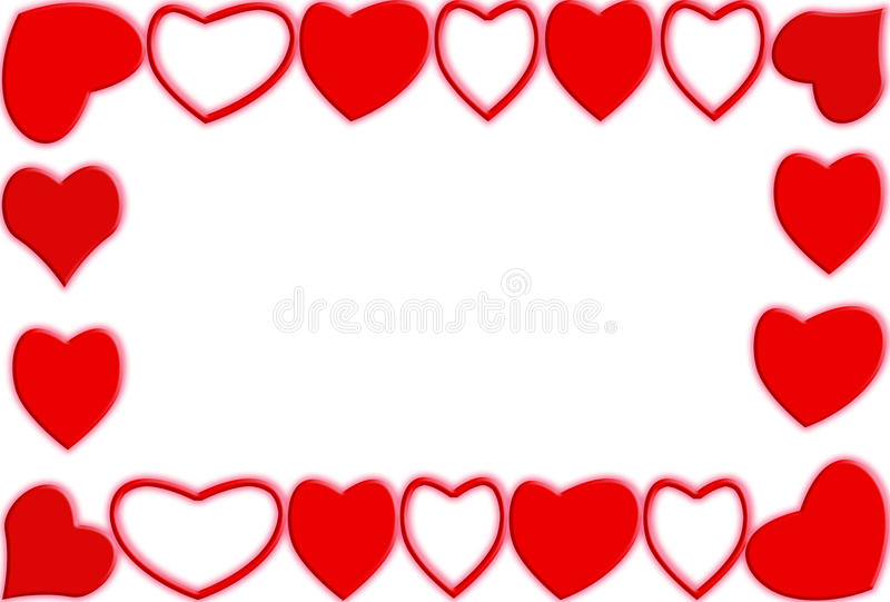 Frame do coração ilustração stock