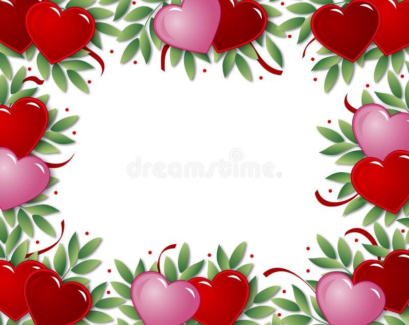 Frame do coração ilustração do vetor
