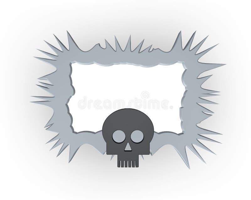 Frame do crânio ilustração royalty free
