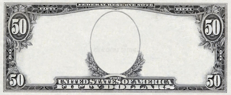 Frame do dólar fotos de stock royalty free