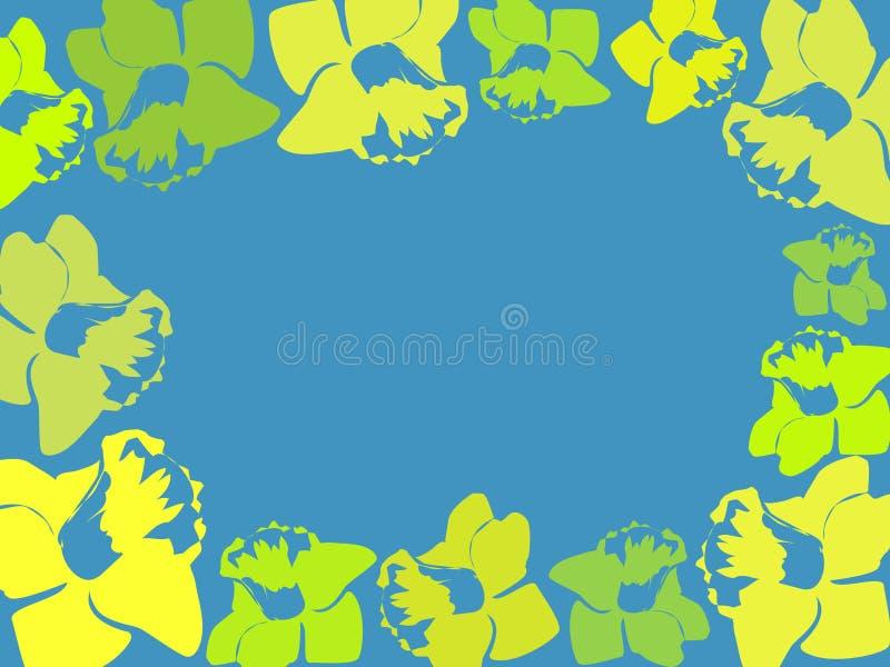 Frame do Daffodil ilustração do vetor