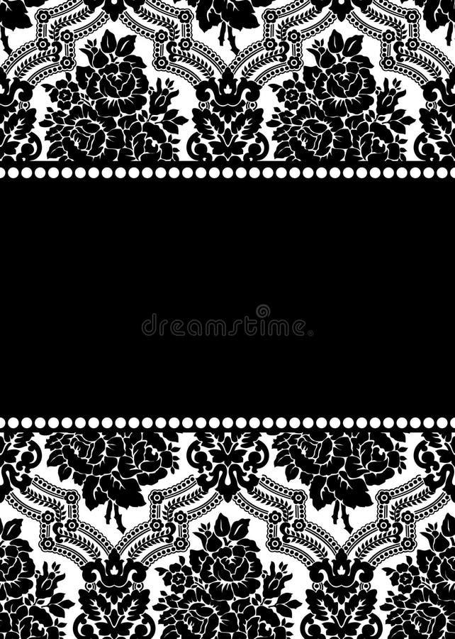 Frame do damasco ilustração stock