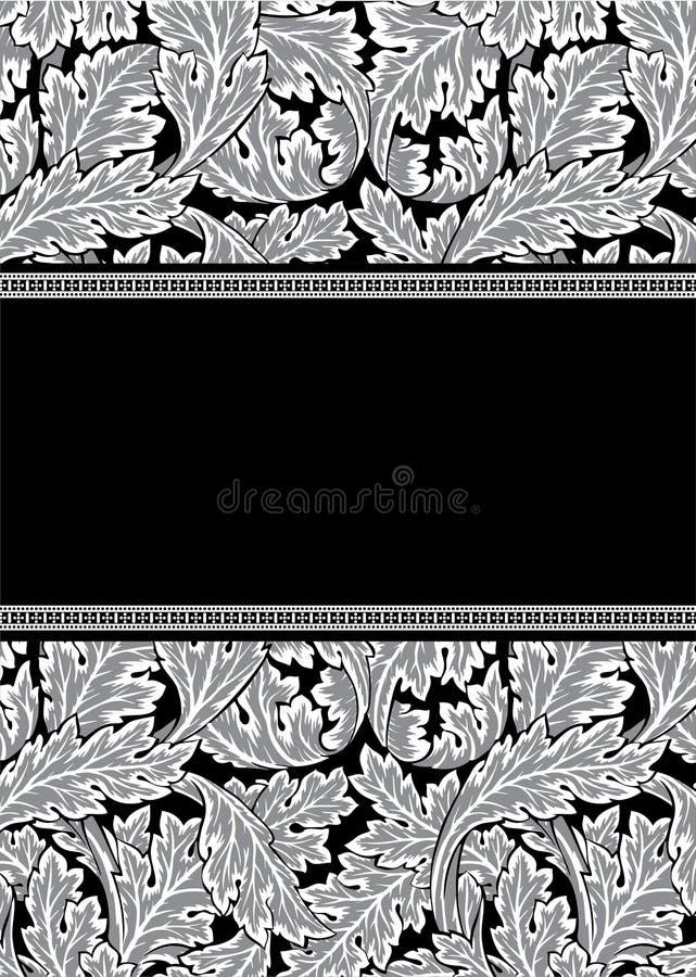 Frame do damasco ilustração royalty free