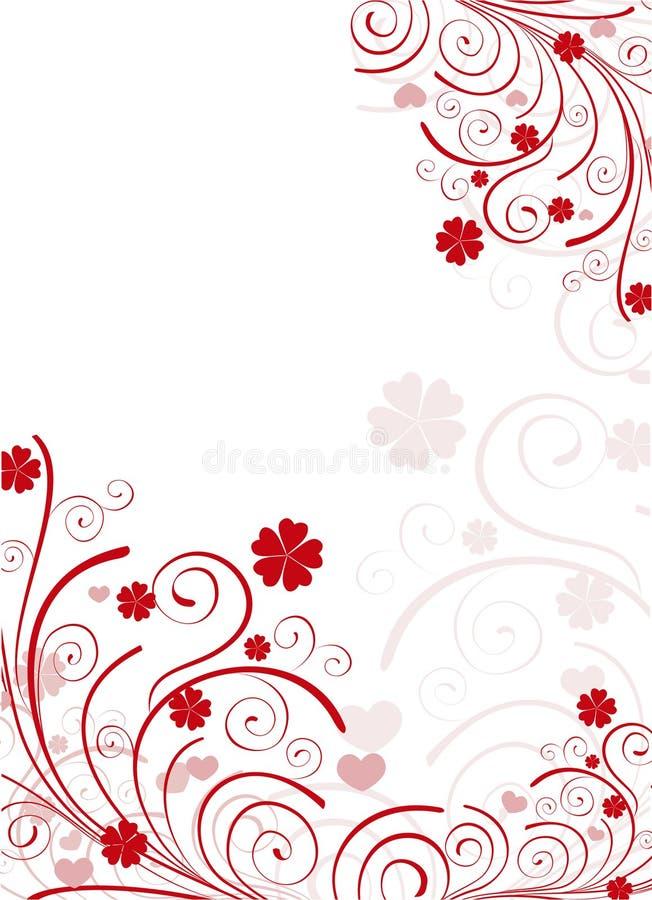 Frame do dia do Valentim ilustração do vetor