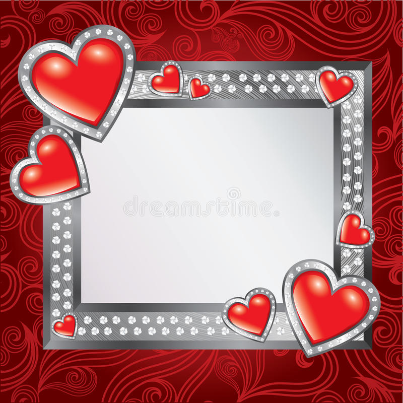 Frame do dia do Valentim de Saint ilustração stock