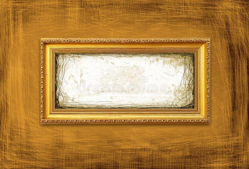 Frame do estilo de Gold&Grunge foto de stock