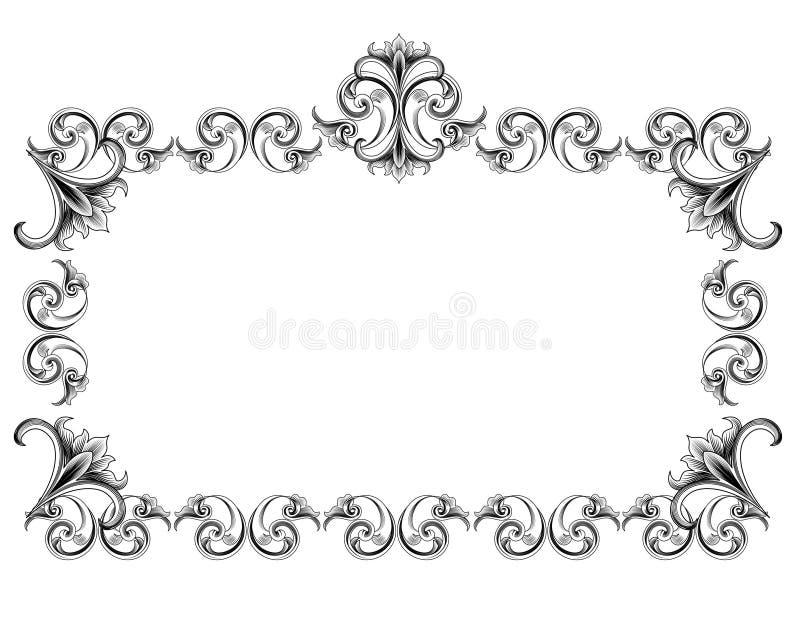 Frame do estilo do Victorian ilustração stock