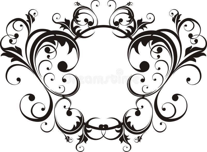 Frame do estilo elegante ilustração stock
