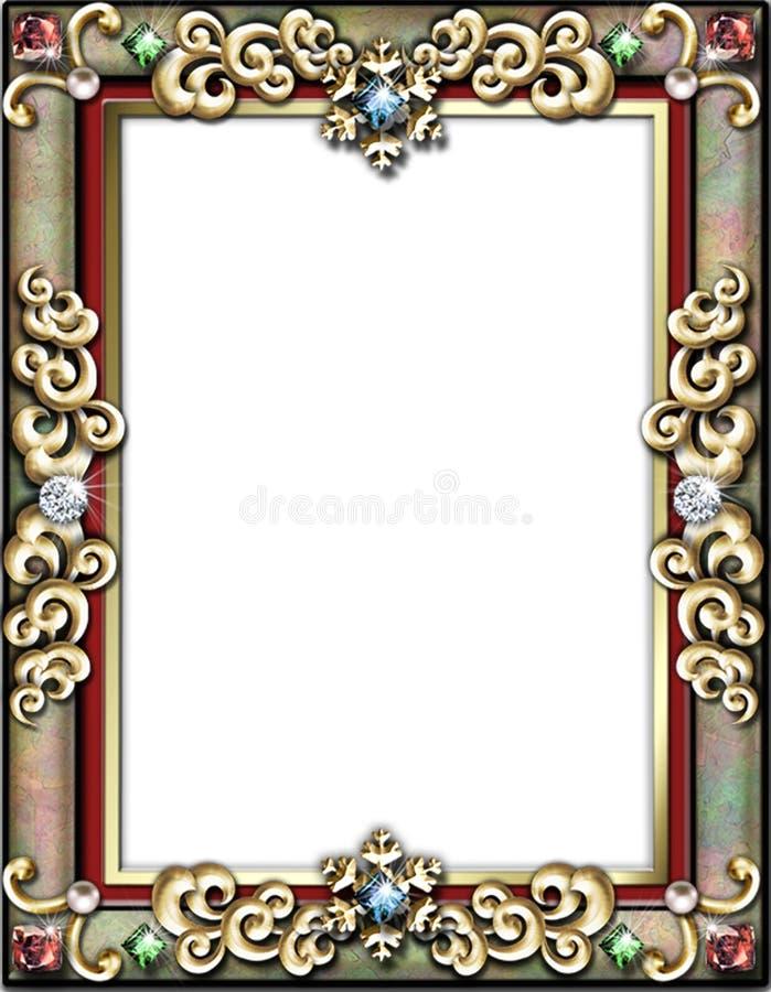 Download Frame Do Feriado De Inverno Ilustração Stock - Ilustração de retrato, beira: 527850