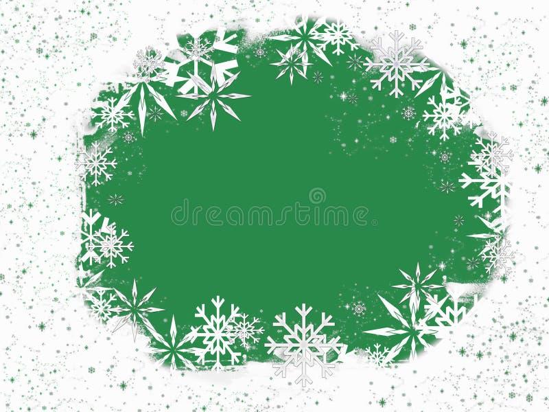 Frame do floco de neve ilustração stock
