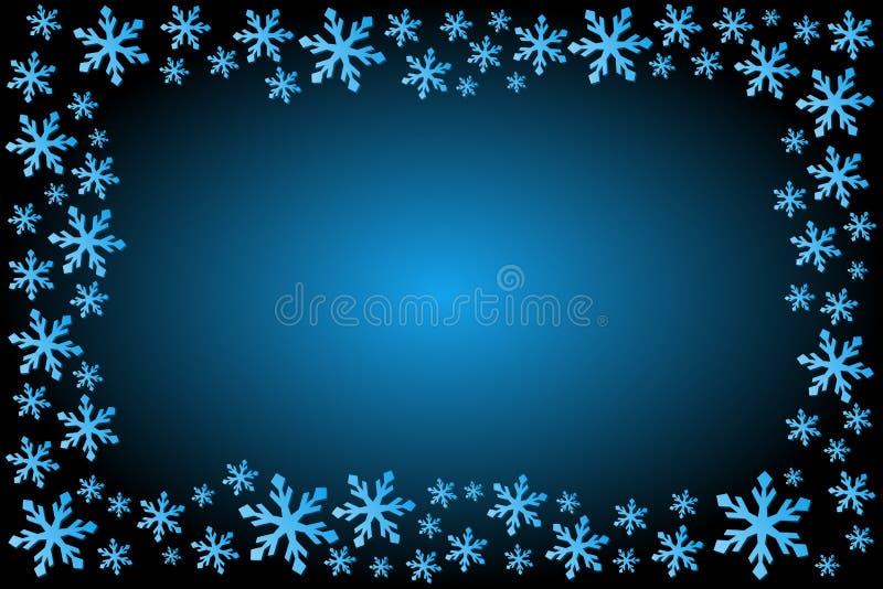 Frame do floco de neve ilustração royalty free