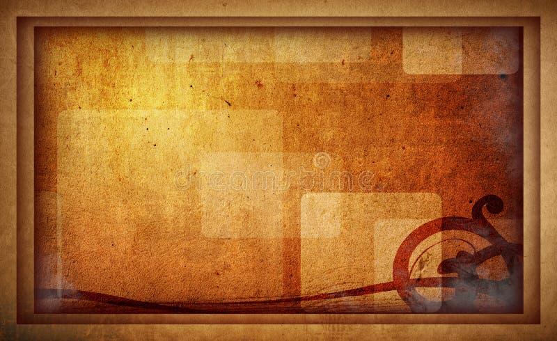 Frame do fundo de Grunge ilustração royalty free