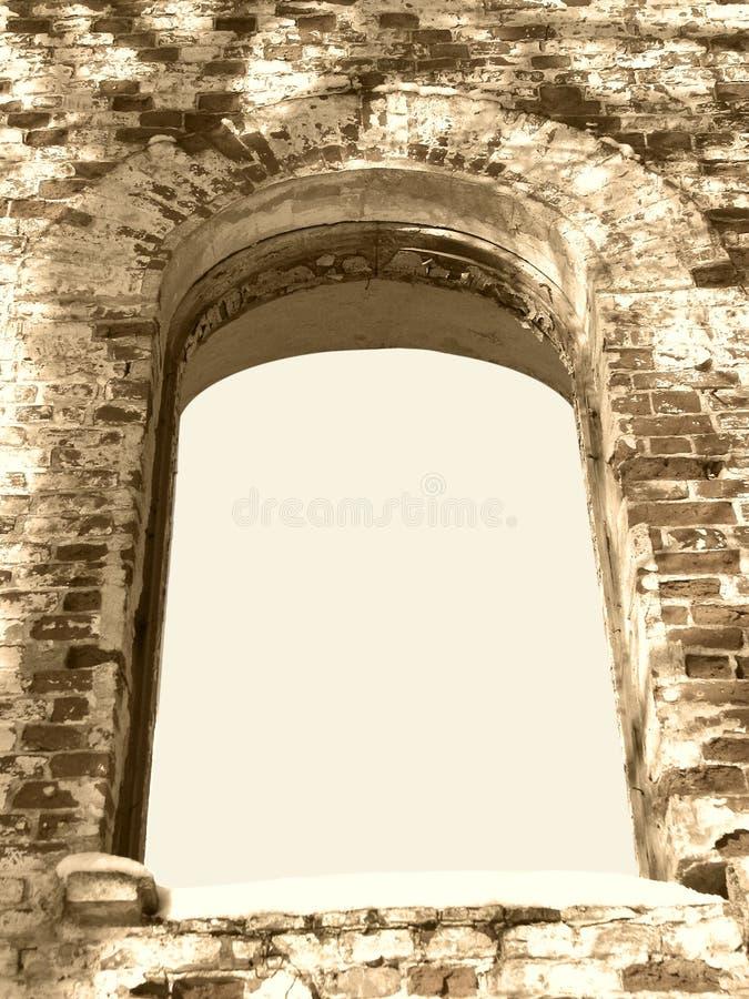 Frame do fundo do sepia antigo do indicador do arco da ruína imagens de stock royalty free
