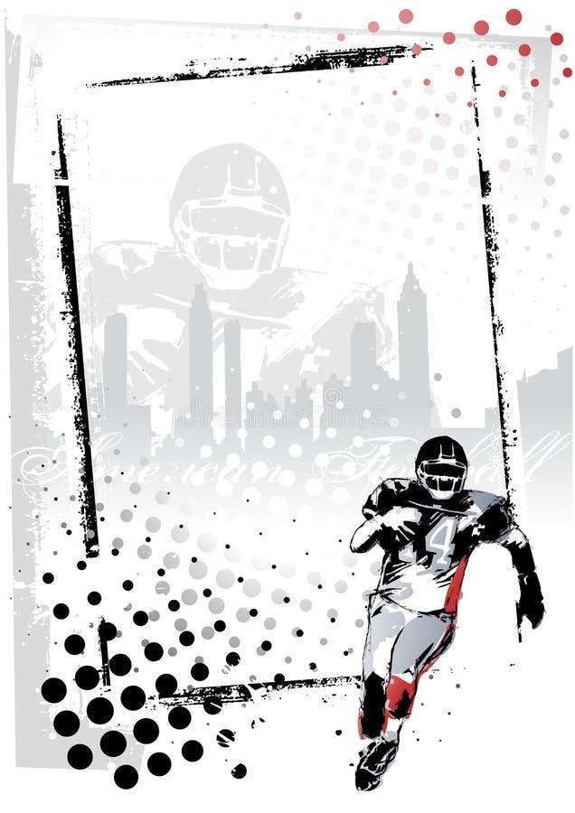 Frame do futebol americano ilustração do vetor