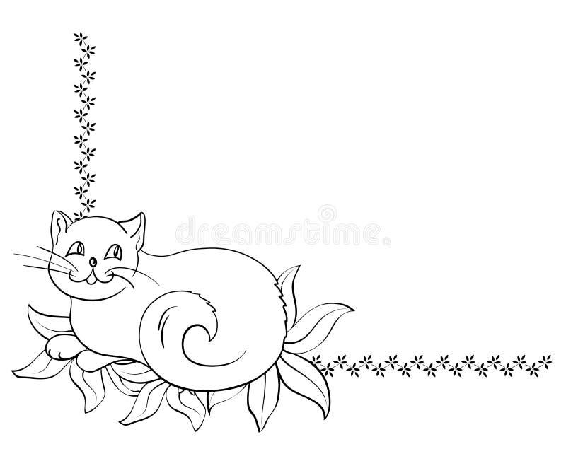 Frame do gato ilustração do vetor