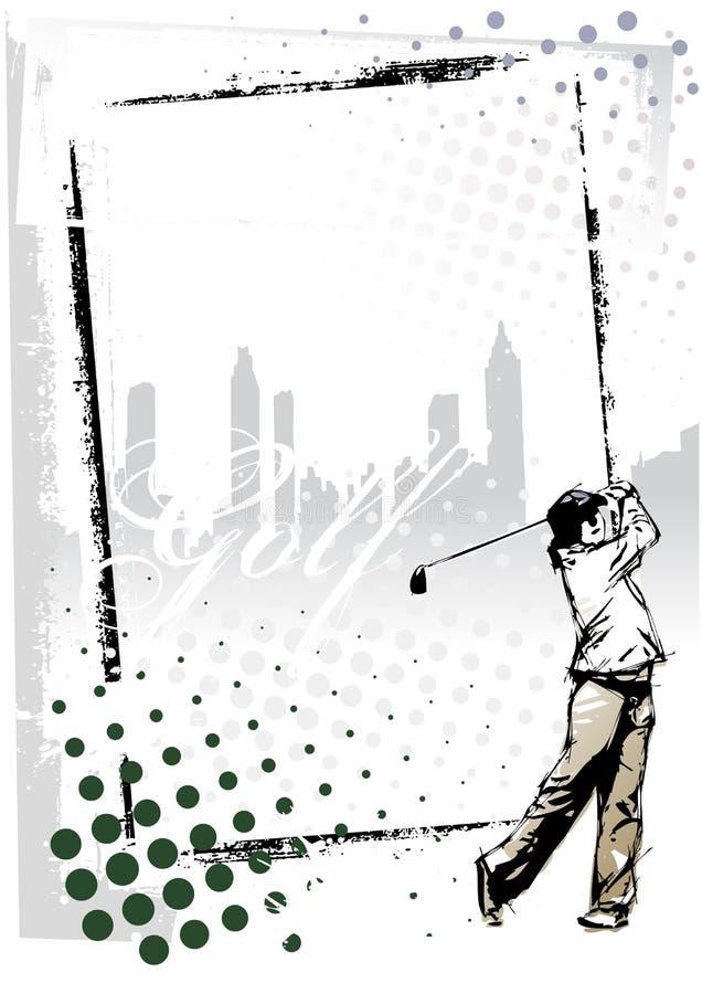 Frame do golfe ilustração stock