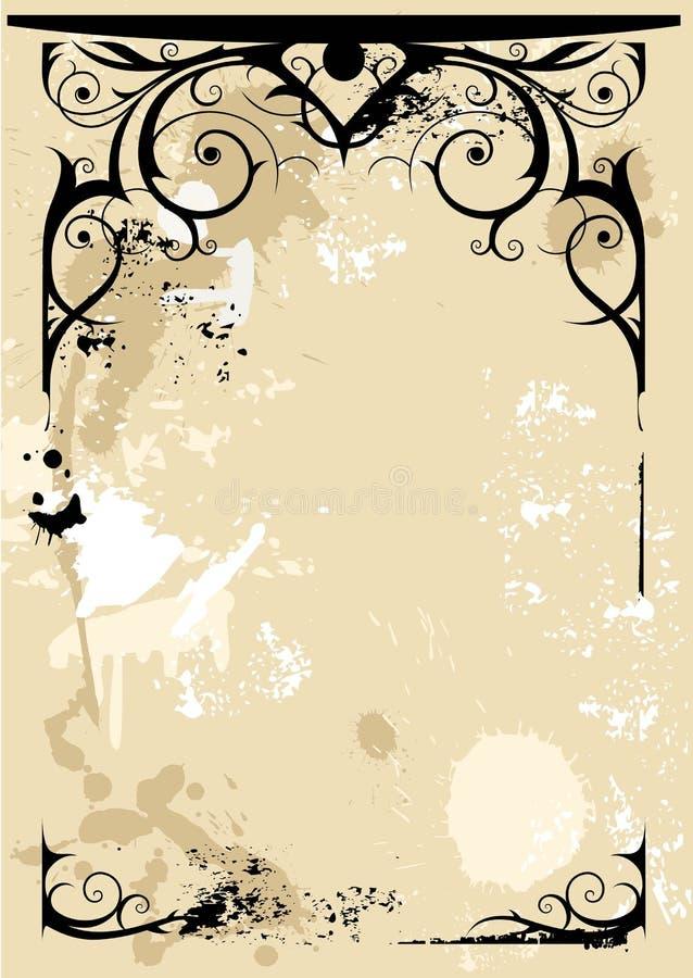 Frame do grunge da fantasia ilustração stock