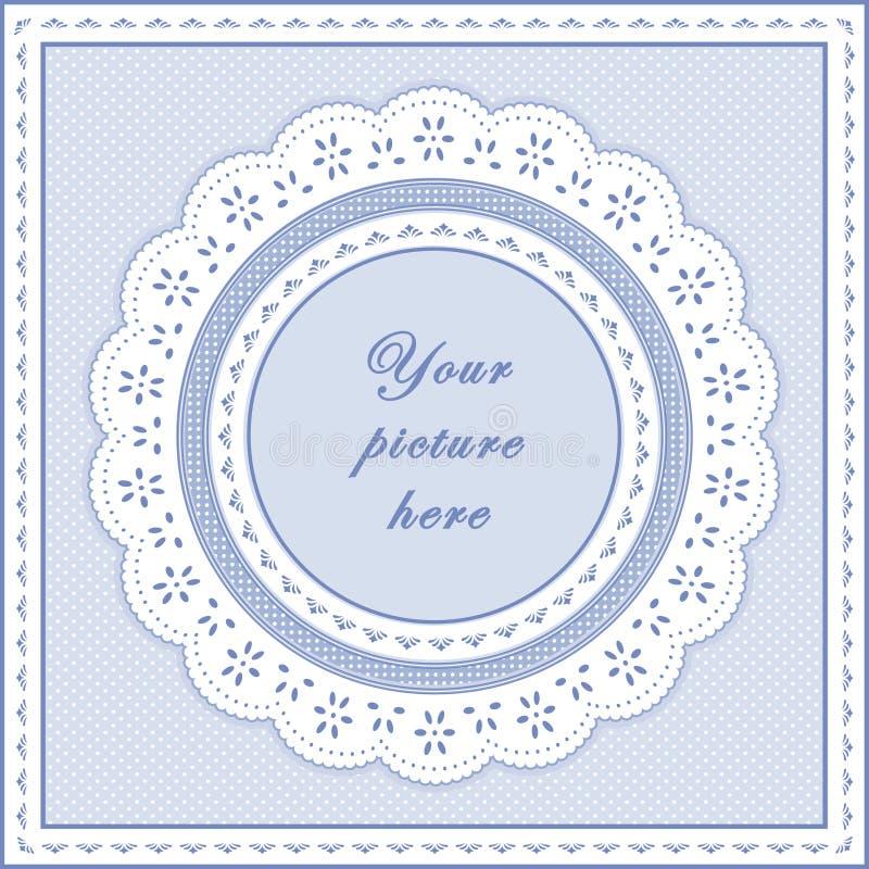 frame do ilhó do azul de bebê de +EPS, fundo sem emenda ilustração do vetor