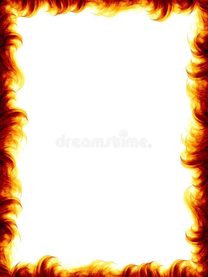 Frame do incêndio ilustração stock
