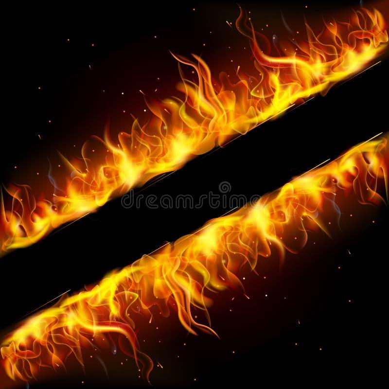 Frame do incêndio ilustração royalty free