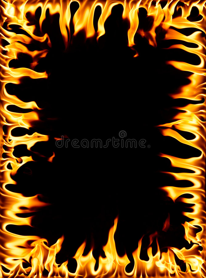 Frame do incêndio foto de stock