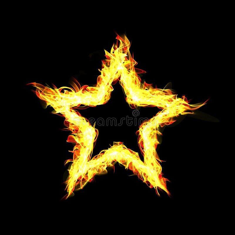 Frame do incêndio no fundo preto Estrela abstrata Illustrati de Digitas ilustração royalty free