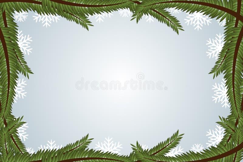 Frame do inverno ilustração do vetor