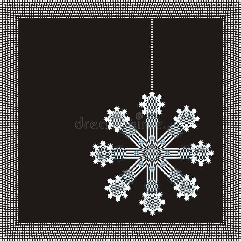 Frame do inverno com floco de neve bonito fotos de stock