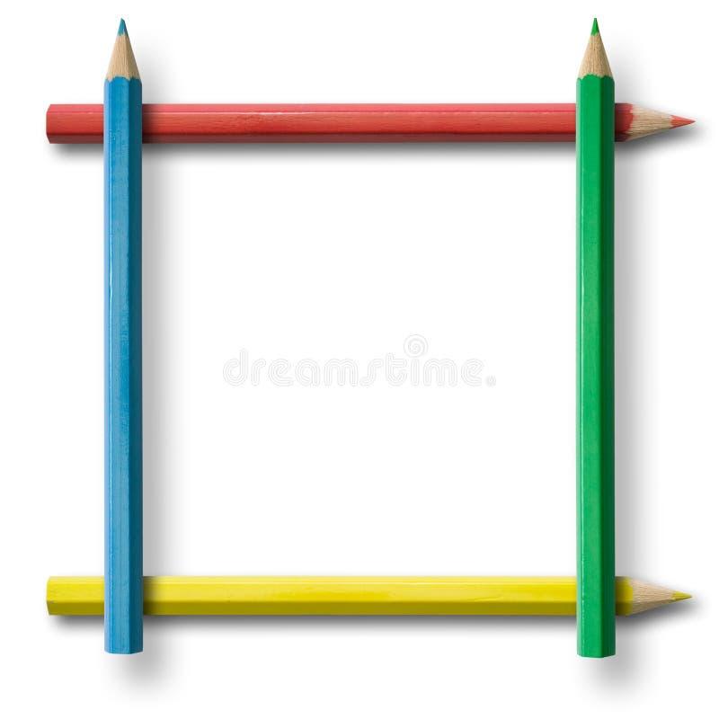 Frame do lápis fotos de stock