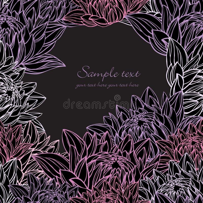 frame do lírio de água floral ilustração stock